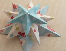 making christmas decorations easy 3d stars baubles