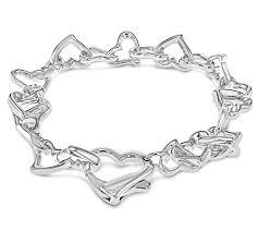 pandora link bracelet images Tuscany 925 silver sterling silver heart link bracelet of 19 cm jpg