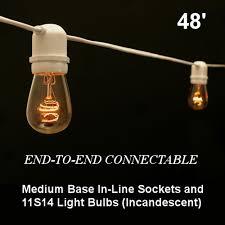 c9 incandescent light strings sival commercial grade outdoor patio light string medium in line