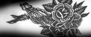 black flower 50 traditional flower tattoo designs for men school floral