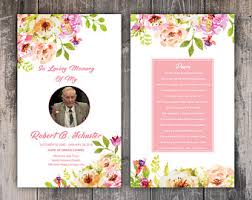 prayer cards for funerals prayer cards etsy
