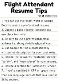 Resume For Flight Attendant Job by Flight Attendant Resume Template Resume Templates Pinterest