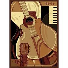 Guitar Area Rug Guitar Area Rugs For Funk N 7 Funky Designs To See