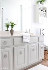 how to make chalk paint for cabinets easy bathroom cabinet transformation house of summer