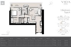 Marina Promenade Floor Plans by Emaar New Launch Vida Residences Waterfront Livings Digital