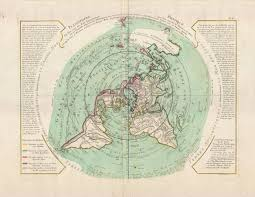 Flat World Map Buache De Neuville U0027s Map Of The World On Polar Projection 1781
