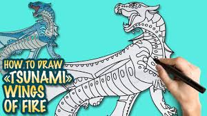 how to draw wings of fire tsunami easy step by step drawing