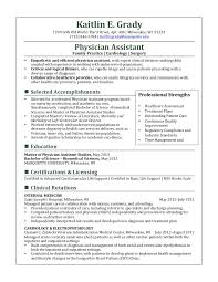 Physician Assistant Resume Templates Kaitlin Grady Resume Feb 2013