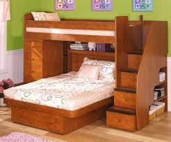 Twin Over Full Space Saver With Chest And Stairs Bedroom - Twin over full bunk beds with stairs