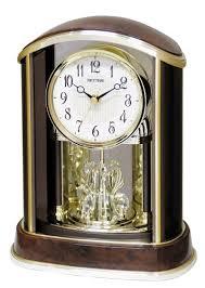 Linden Mantel Clock Amazon Com Crystal Flare Mantle Clock By Rhythm Clocks Home
