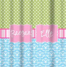 Pink Green Shower Curtain Shower Curtains