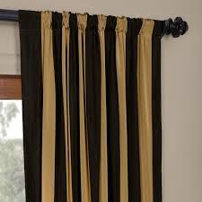 Black Gold Curtains Exclusive Fabrics Black Gold Stripe Faux Silk Taffeta Curtain