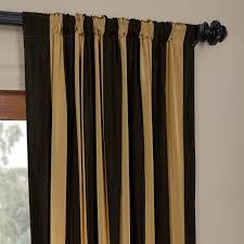 Black And Gold Curtain Fabric Exclusive Fabrics Black Gold Stripe Faux Silk Taffeta Curtain