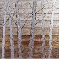 metallic birch trees wall art 4x4 birch living room wall art