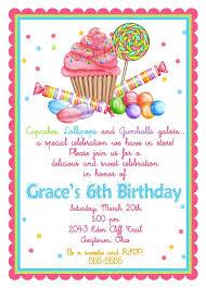 sweet shop birthday invitations cupcake