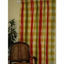 Yellow Brown Curtains Yellow Plaid Curtains Foter