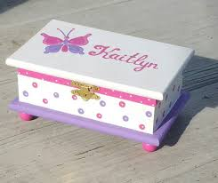 girl jewelry box personalized hot pink butterfly jewelry box personalized kids jewelry box pink