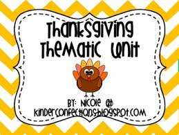 thanksgiving an introductory thematic unit by kinderconfections