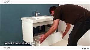 reach vanity top cabinet and mirrored cabinet installation