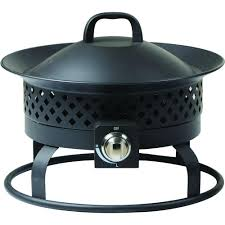 Outdoor Propane Fire Pit Real Flame Bryon 30 In Steel Propane Fire Pit In Raven Black With