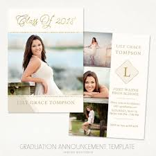 senior graduation announcement templates senior graduation announcement template for photographers vol 3