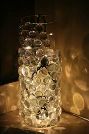 Lights In Vase Diy Nightlight Just Glue Glass Pebbles To A Vase And Put A