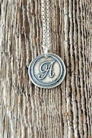 Monogram Initials Necklace Wax Seal Monogram Initial Charm Necklace Charmed Collections