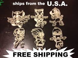 pj masks cookie cutters 6 pack cat boy gekko owlette romeo