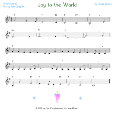 joy to the world for the clarinet free printable pdf sheet music