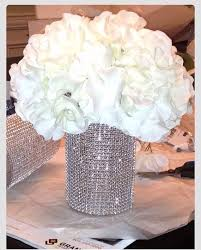 elegant and sparkly wedding centerpiece bling pink and white