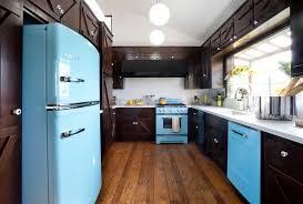 elegant and gorgeous retro kitchen appliances with frigidaire