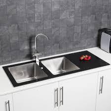 kitchen sink macerator 2 bowl kitchen sink with glass drainer