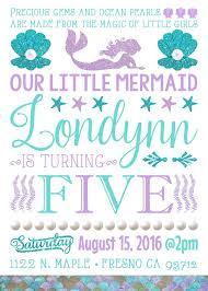 mermaid theme birthday party invitation invitations invite under