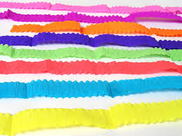 crepe paper ribbons streamers craftsupply scrap booking