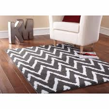 Leather Area Rugs Gray White Area Rug Square Grey White Parallelogram Pattern