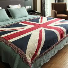 jeter de canape coton tapis mince couverture drapeau britannique jeter tapis