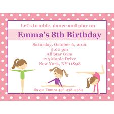 Create Own Invitation Card Gymnastics Birthday Invitations Kawaiitheo Com