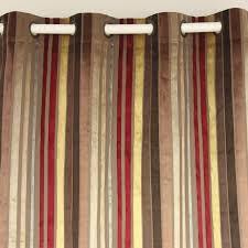 panneau de chambre vezo accueil multi bourgogne rayures velours fenêtre traitement