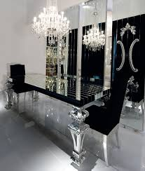 black dining room black mirrored dining room table home design and interior design