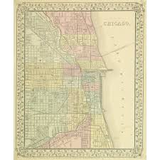 L Chicago Map by Map Chicago 1867 Original Art Antique Maps U0026 Prints