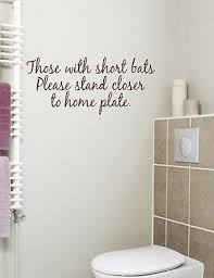 Vinyl Walls For Bathrooms Bathroom Quote Those With Short Bats Vinyl Wall Decal Ebay