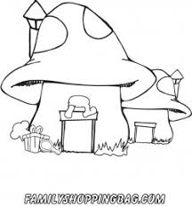 mushroom house smurfs coloring pages free printable ideas