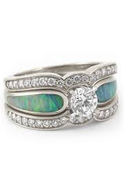 Opal Wedding Rings by Opal Wedding Rings Dream Ring Opals And Princess Cut