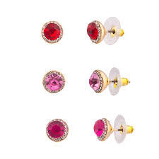 purple stud earrings pave pink purple stud earrings women s kids
