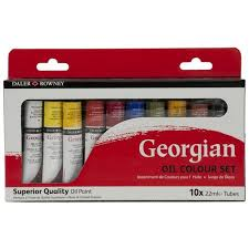 daler rowney georgian oil color paint set 10pk walmart com