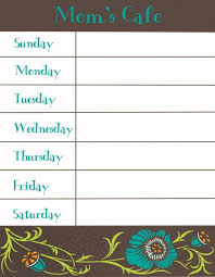 weekly menu templates free 25 unique meal plan templates ideas on menu planning