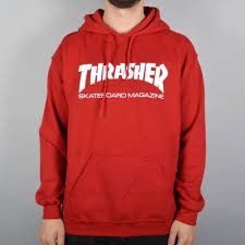 thrasher skate mag pullover hoodie antique cherry red skate