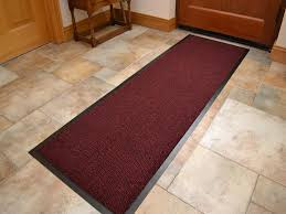Utility Runner Rugs Machine Washable Red Black Heavy Quality Non Slip Hard Wearing