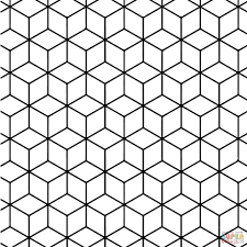 simple geometric patterns coloring pages for kids just colorings
