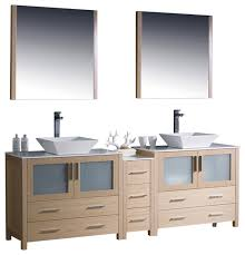 Bathroom Vanity With Side Cabinet Sink Bathroom Vanity W One Side Cabinet U0026 Two V Modern Bathroom